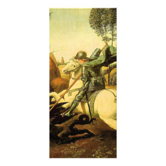 """Raphael's """"St. George and the Dragon"""" (circa 1505) Personalized Rack Card"""