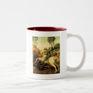 "Raphael's ""St. George and the Dragon"" (circa 1505) Two-Tone Coffee Mug"
