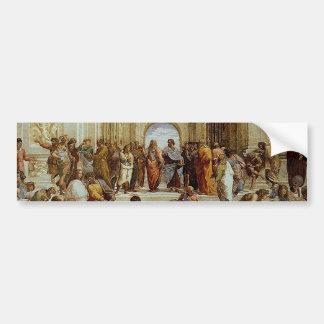 "Raphael's ""The School of Athens"" (circa 1511) Bumper Sticker"