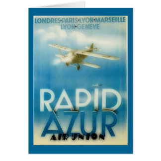 rapid azur - vintage travel card