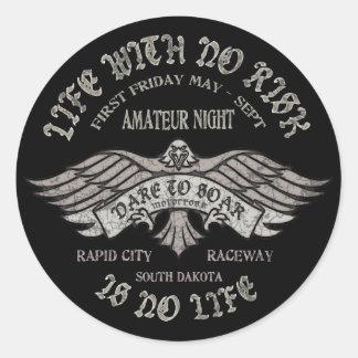 Rapid City Raceway Round Sticker