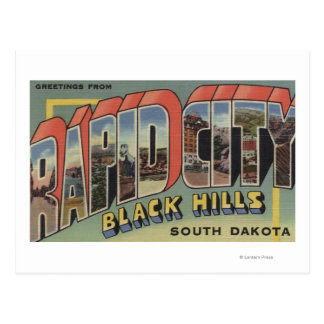 Rapid City, South Dakota - Large Letter Scenes Postcard