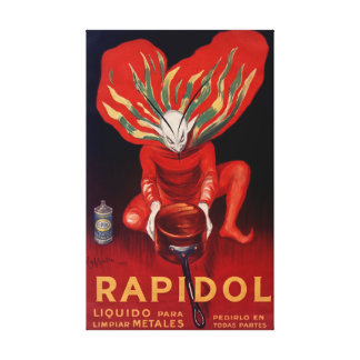 Rapidol, Metal Polish Spanish Adverting Poster Canvas Print