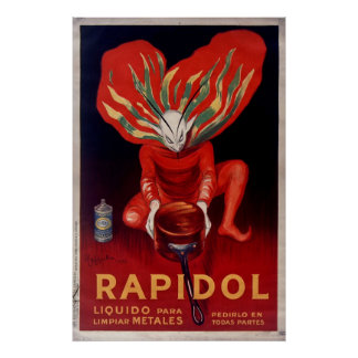 Rapidol, Metal Polish Spanish Advertising Poster