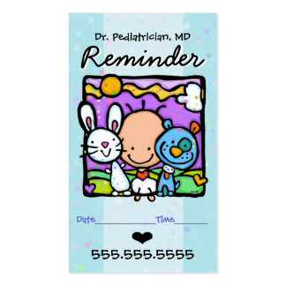 Rappel card.OBGYN.Baby de Pediatrician.Appointment Carte De Visite Standard