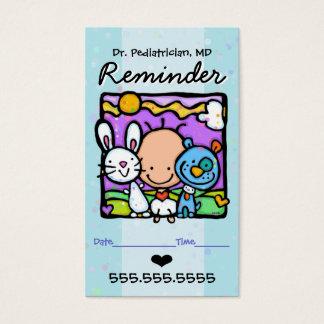 Rappel card.OBGYN.Baby de Pediatrician.Appointment Cartes De Visite