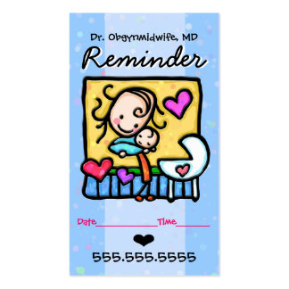 Rappel de Midwife.OBGYN.Pediatrician.Appointment Carte De Visite Standard
