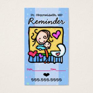 Rappel de Midwife.OBGYN.Pediatrician.Appointment Cartes De Visite