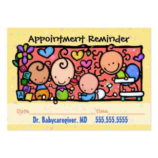Rappel de Pediatrician.Midwife.Appointment Carte De Visite Grand Format