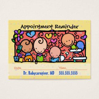 Rappel de Pediatrician.Midwife.Appointment Cartes De Visite