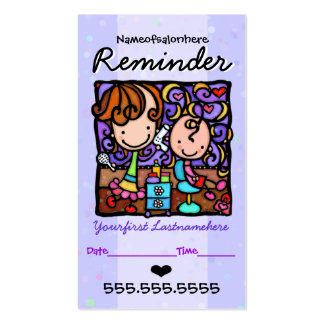 Rappel des cheveux carte de visite standard