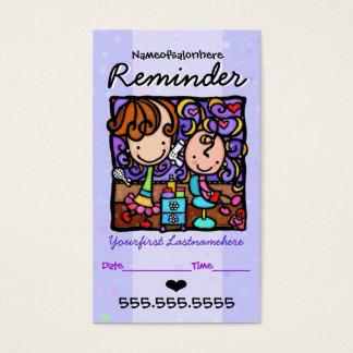 Rappel des cheveux cartes de visite