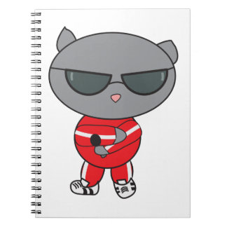 Rapper Cat in Track Suit Notebook