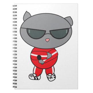 Rapper Cat in Track Suit Note Books