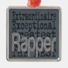 Rapper Extraordinaire Metal Ornament
