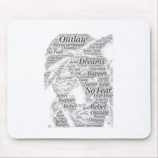 Rapper hip-hop word graffiti sketch Products Mouse Pad