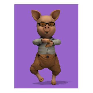 Rapper Pig Postcard