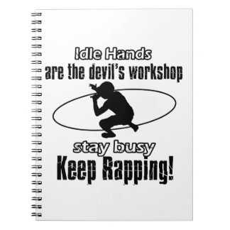 RAPPING awesome gift items Note Books