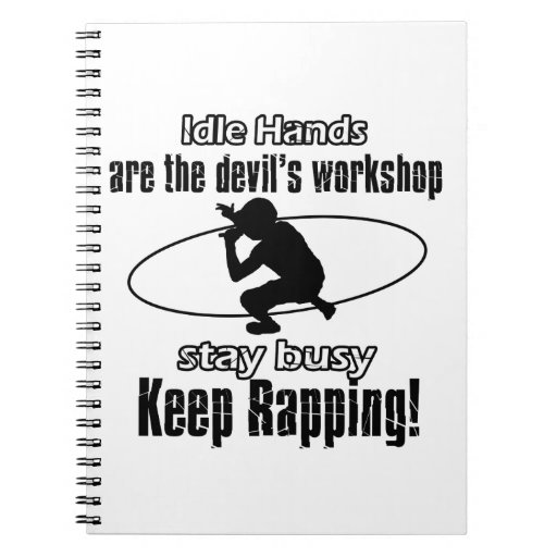 RAPPING awesome gift items Spiral Notebooks