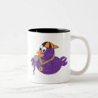 Rapping bird Two-Tone coffee mug