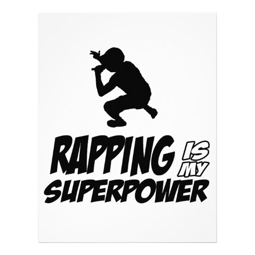 Rapping hip hop designs custom letterhead