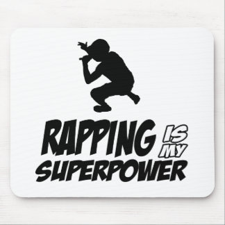 Rapping hip hop designs mouse pad
