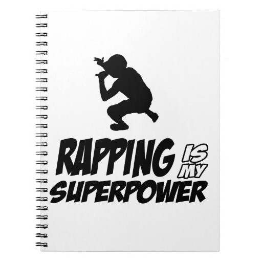 Rapping hip hop designs spiral note books