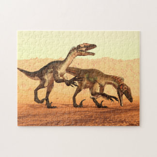 Raptor Dinosaurs in the Desert Jigsaw Puzzle