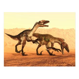 Raptor Dinosaurs in the Desert Postcard