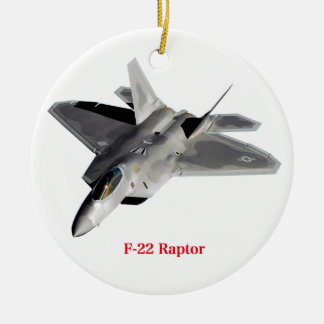 Raptor F-22 Ceramic Ornament