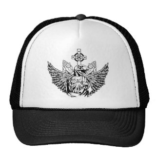 Raptor Jesus Loves You Trucker Hats