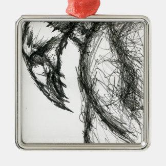 Raptor Vultaris Silver-Colored Square Ornament