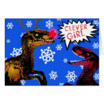 Raptor with your Nose so bright! - Christmas Card