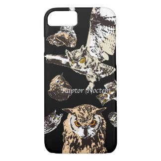 Raptores (Indian eagle-owl, Great horned owl and iPhone 8/7 Case