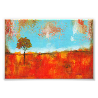 Rapture Abstract Red Tree Landscape Painting Art Photo