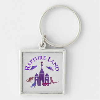 Rapture Land Silver-Colored Square Keychain