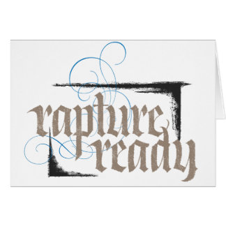 Rapture Ready - Elegant Modern Religious Christian Card