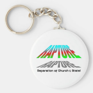Rapture, Separation of church and state christian Basic Round Button Keychain