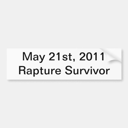 Rapture Survivor Bumper Sticker