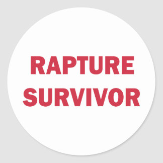 Rapture Survivor Classic Round Sticker