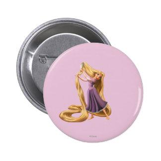 Rapunzel Brushing Hair 2 2 Inch Round Button