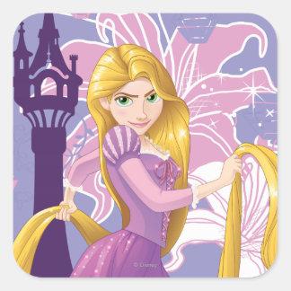 Rapunzel - Determined Square Sticker