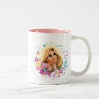 Rapunzel Flower Frame Two-Tone Coffee Mug