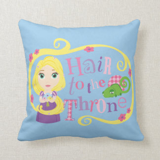Rapunzel - Hair to the Throne Throw Pillow