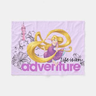 Rapunzel | Life Is An Adventure Fleece Blanket