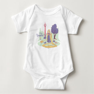Rapunzel & Pascal in Pretty Pastels Baby Bodysuit