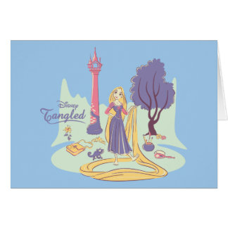 Rapunzel & Pascal in Pretty Pastels Card