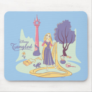 Rapunzel & Pascal in Pretty Pastels Mouse Pad