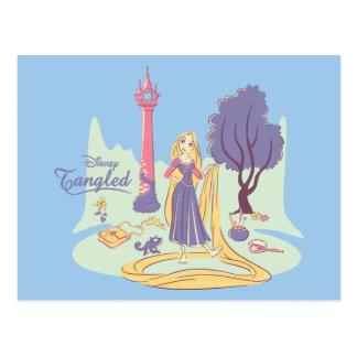 Rapunzel & Pascal in Pretty Pastels Postcard
