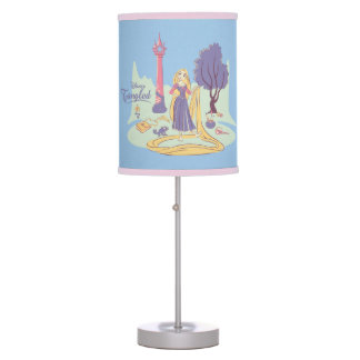 Rapunzel & Pascal in Pretty Pastels Table Lamp